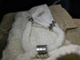 Чехол под мобильный телефон 34 Белый с Медведями
