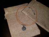 Медальон Медвежья лапа #4 (кожа без окраса)