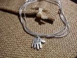 Медальон на цепочке - Ладошка - Hand Made