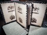 Обложка на паспорт 001 с медведем из натуральной кожи