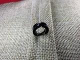 Серьга Кольцо цвет черный