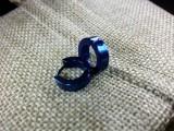 Серьга Кольцо цвет синий