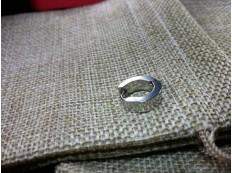 Серьга Кольцо цвет под серебро