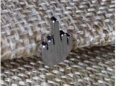 Серьга ФАК цвет под серебро
