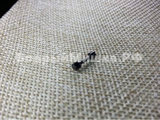 Серьга Штанга 3мм цвет черный