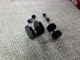 Серьга Штанга 4мм цвет черный