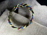 Браслет замшевый, плетеный 019 Олимпийский браслет
