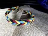Браслет замшевый Стрелка 020 Олимпийский браслет