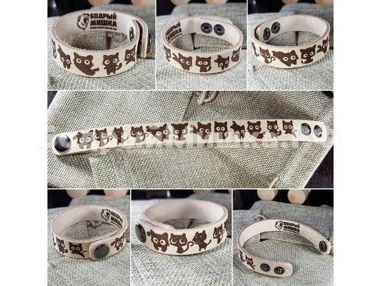 """Кожаный браслет """"ЛеГра"""" 002 Без окраса"""