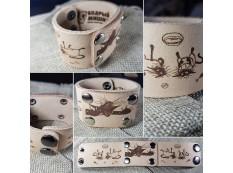 """Кожаный браслет """"ЛеГра"""" 003 Без окраса"""