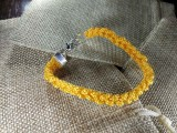 Браслет из нейлона плетеный 001 желтый