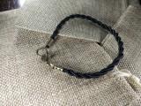 Браслет из нейлона плетеный 003 черный