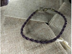Браслет из нейлона плетеный 002 коричневый