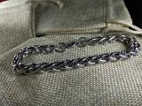 Браслет стальной 003 Плетеный
