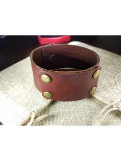 """Кожаный браслет """"Таирез"""" коричневый перламутр"""