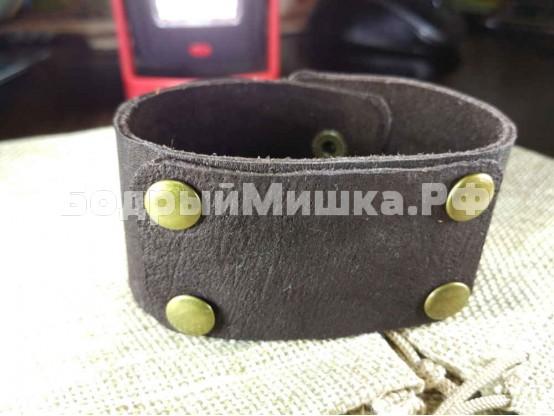 """Кожаный браслет """"Таирез"""" Шоколадный"""