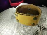 """Кожаный браслет """"Таирез"""" Желтый"""
