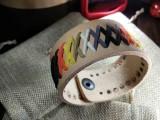 """Кожаный браслет """"Лемос"""" 005 Bear pride Натуральный, без окраса с замшевым шнуром."""