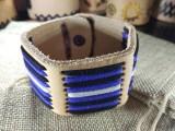 """Кожаный браслет """"Лемос"""" 008 Leather pride Натуральный, без окраса с замшевым шнуром."""