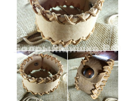 """Кожаный браслет """"Лемос"""" 014 с кожаным шнуром"""