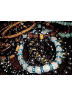 Браслет из камня 027 Создание копии увиденного браслета по фотографии из интернета.