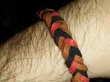 Браслет замшевый, плетёный 001