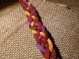 Браслет замшевый, плетёный 003