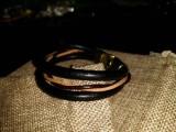 """Кожаный браслет """"Питон"""" 001"""