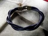 """Кожаный браслет """"Питон"""" 003 витой"""