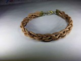 Кожаный браслет Плетеное Гнездо - Ветка