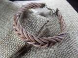 Кожаный браслет Плетеное Гнездо - Стрелка