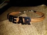 """Кожаный браслет: """"Leather Bear"""" (кожа без окраса)"""