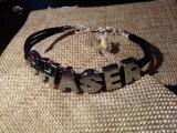 """Кожаный браслет: """"CHASER"""" (черная кожа)"""