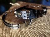 """Кожаный браслет: """"Leather Bear"""" с замшевым шнуром."""