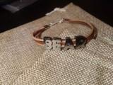 """Кожаный браслет: """"Leather Bear"""" 003 с замшевым шнуром на выбор"""