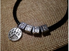 "Кожаный браслет: ""WOLF"" - ""Волк"""